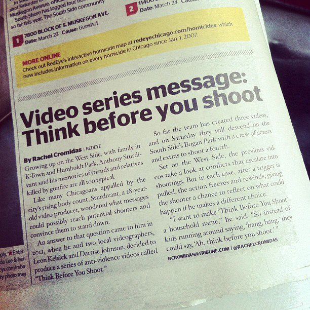 Think Before You Shoot in Chicago's Red Eye #TB4YS