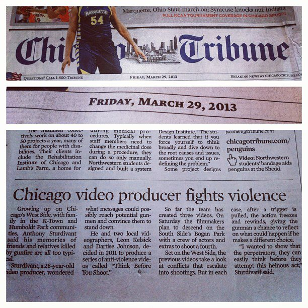 Think Before You Shoot in Chicago Tribune #TB4YS